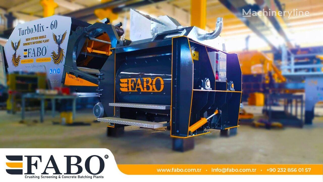 new FABO TWIN SHAFT CONCRETE MIXER  concrete plant