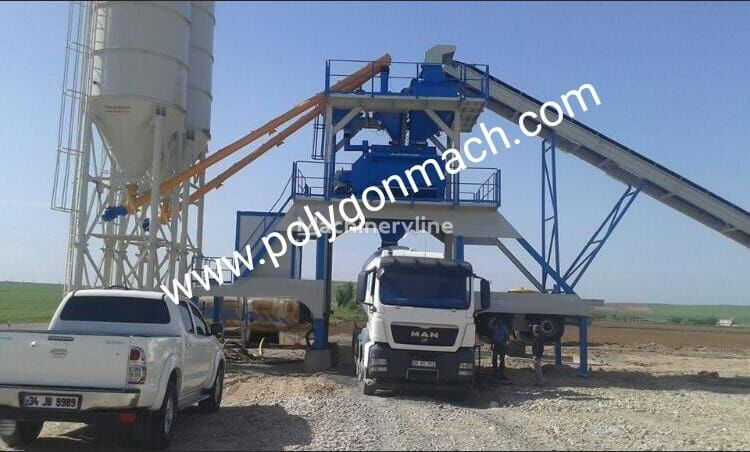 new POLYGONMACH PMC-120 concrete plant
