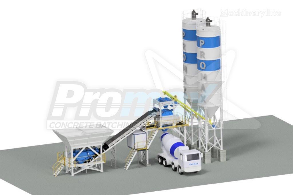 new PROMAX C100-TWN PLUS (100m³/h) concrete plant