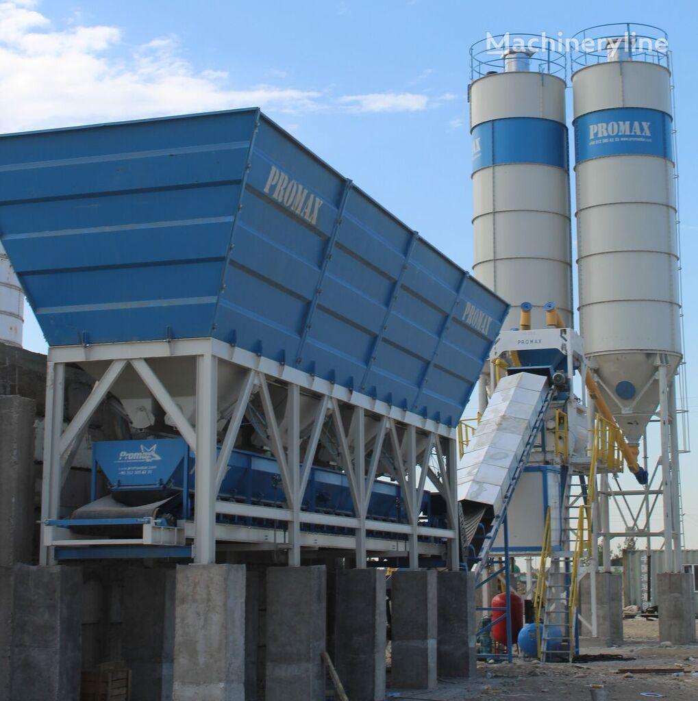 PROMAX Compact Concrete Batching Plant C100-TWN-LINE (100m3/h) concrete plant