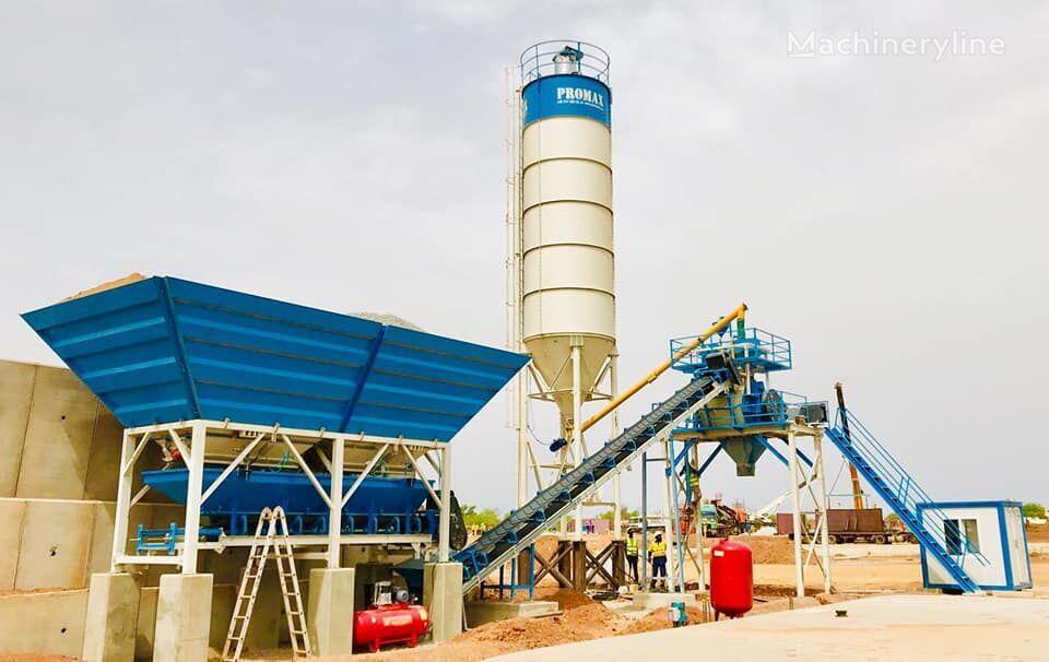 new PROMAX Compact Concrete Batching Plant PROMAX C60 SNG PLUS (60m³/h) concrete plant