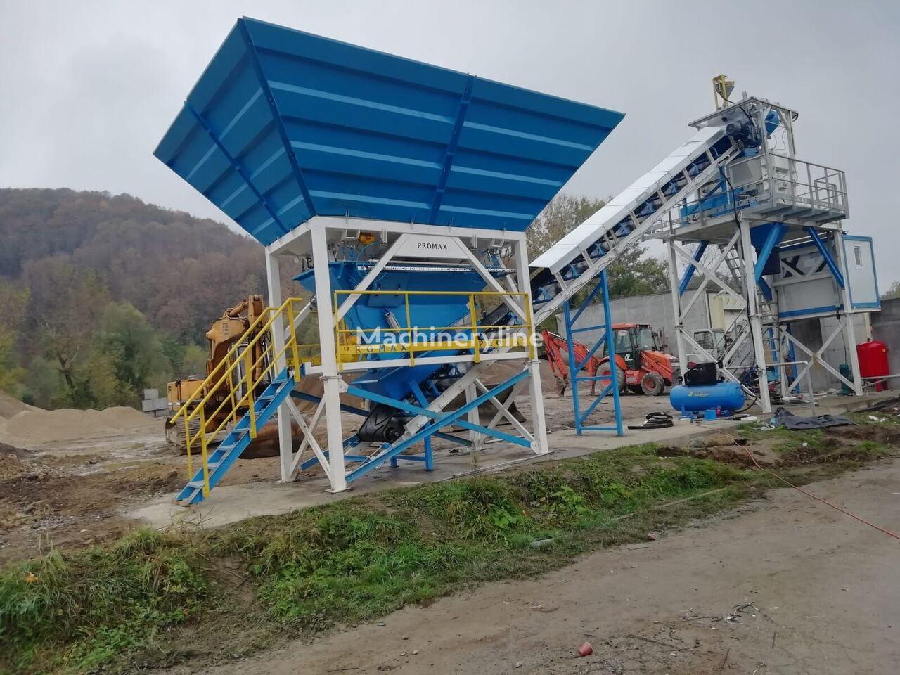 new PROMAX Compact Concrete Batching Plant PROMAX C60-SNG PLUS (60m³/h) concrete plant