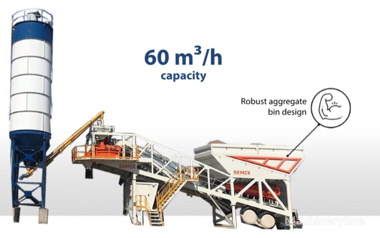 new SEMIX Concrete Mixing Plant 60S concrete plant