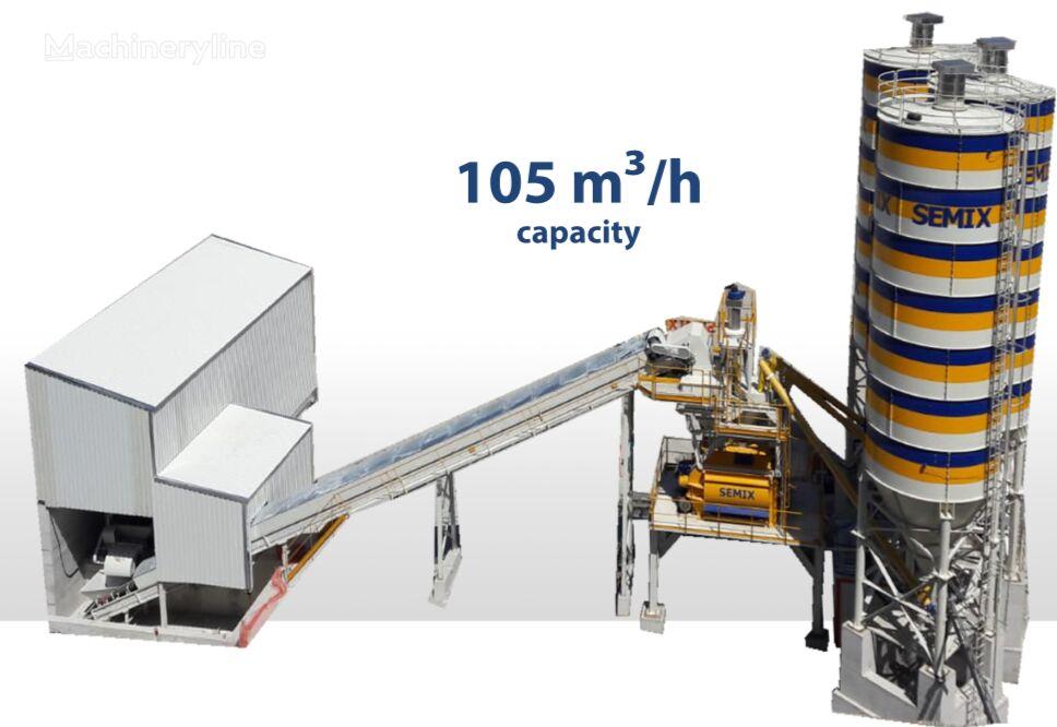 new SEMIX SEMIX Stationary Concrete Bathcing Plant 105 m³/h concrete plant