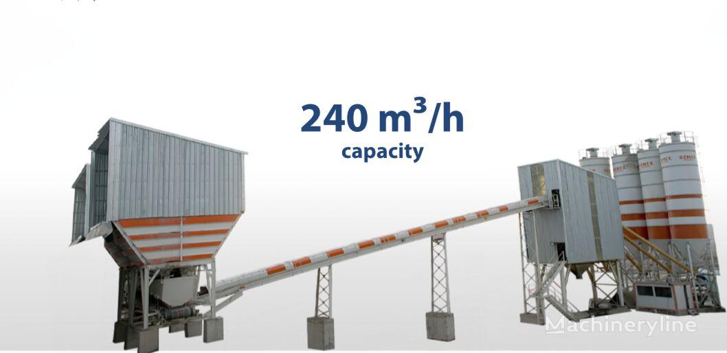 new SEMIX Stationary   concrete plant