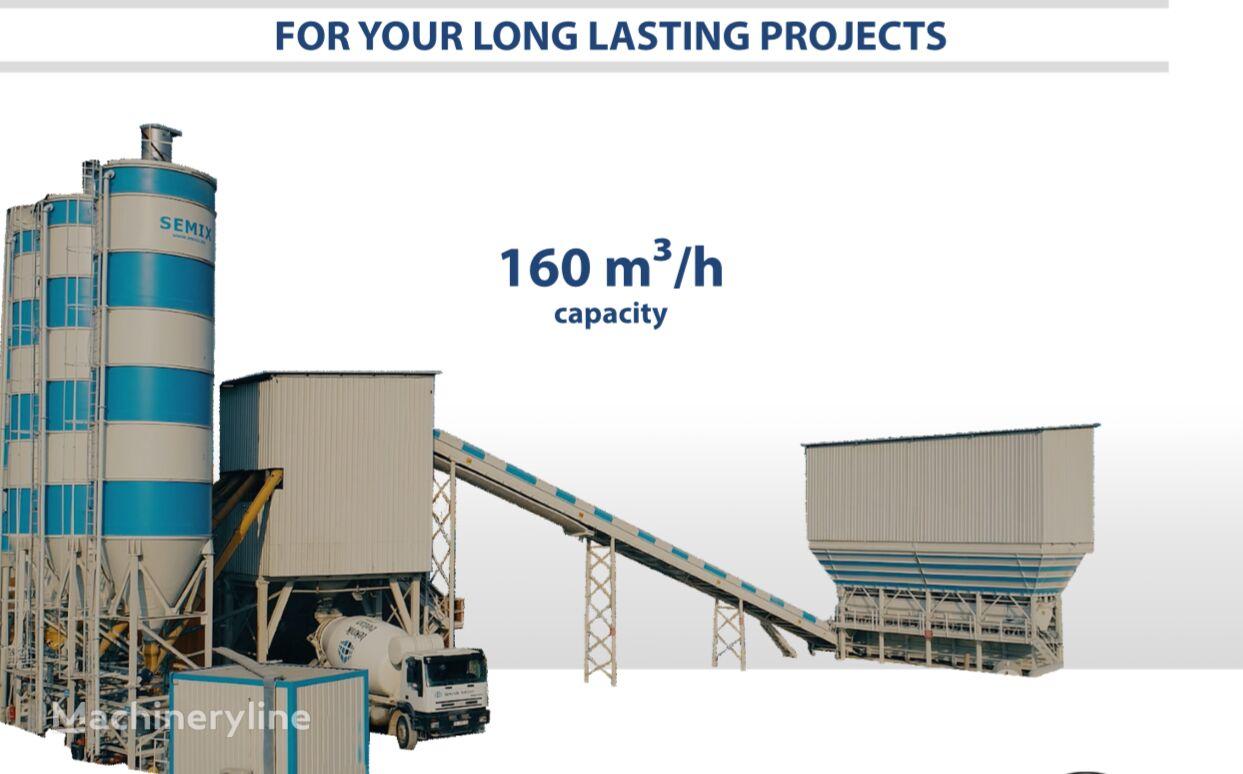new SEMIX Stationary Concrete Batching Plant 160 m³/h concrete plant
