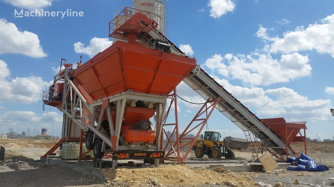 new SKYMIX SKY 100MS concrete plant