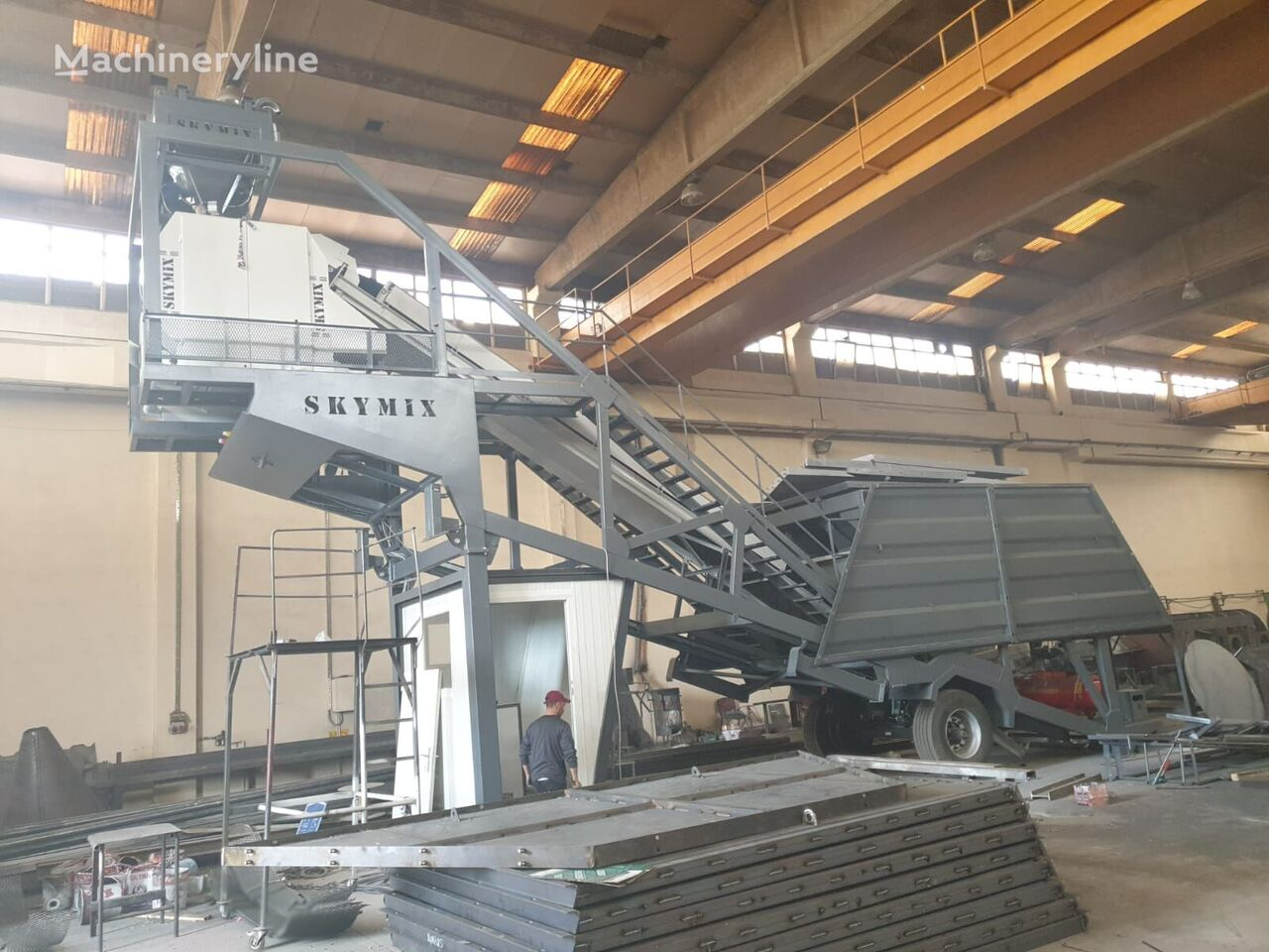 new SKYMIX SKY 60MS concrete plant
