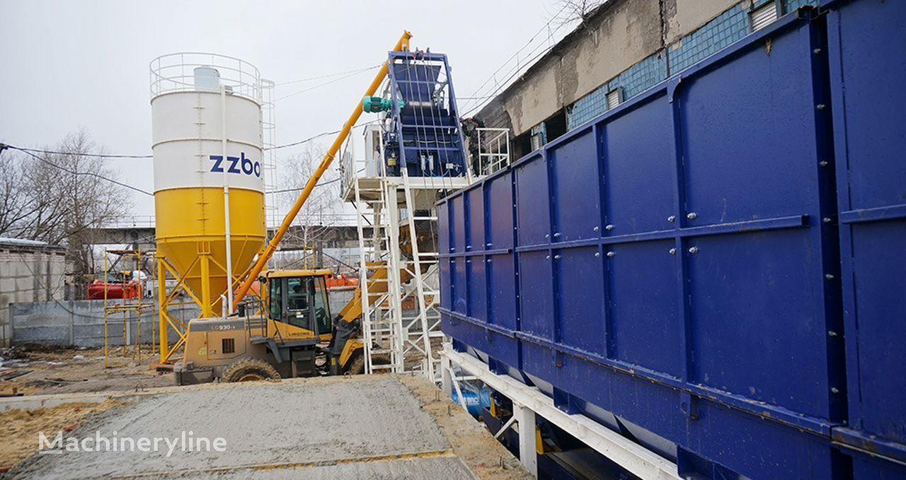 ZZBO Stacionarnyy Betonnyy zavod Skip-60 bru-60 zzbo concrete plant