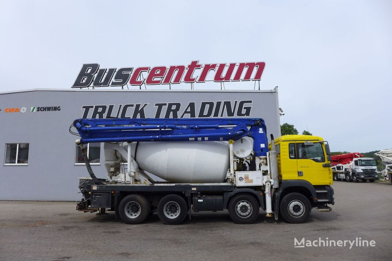 Schwing  on chassis MAN TGA 37.410 8x4 Schwing 24 m concrete pump