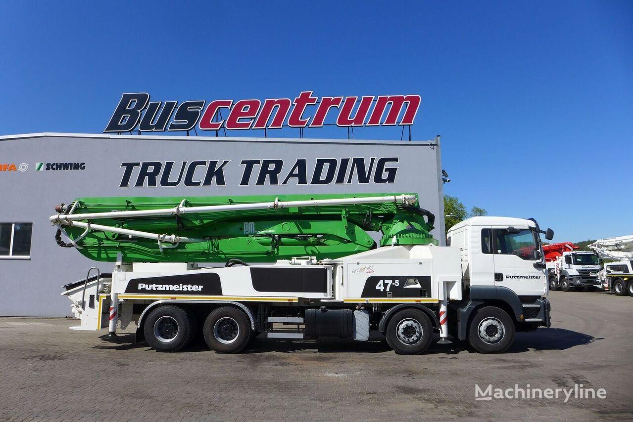 Putzmeister  on chassis MAN TGA 41.400 8x4 Putzmeister 47-5 m  concrete pump