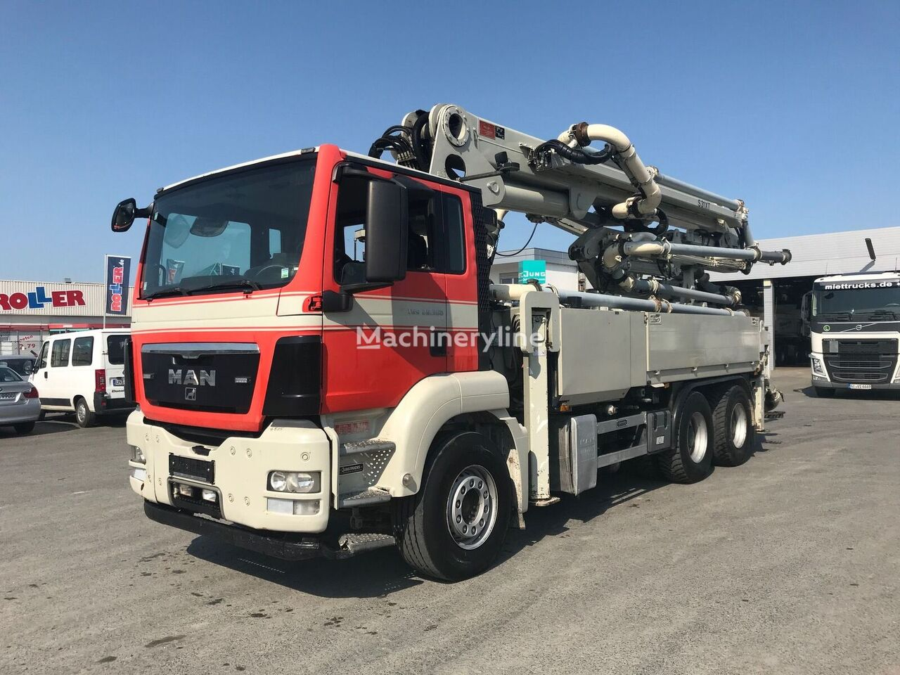 Schwing S31XT  on chassis MAN TGS 26.360  concrete pump