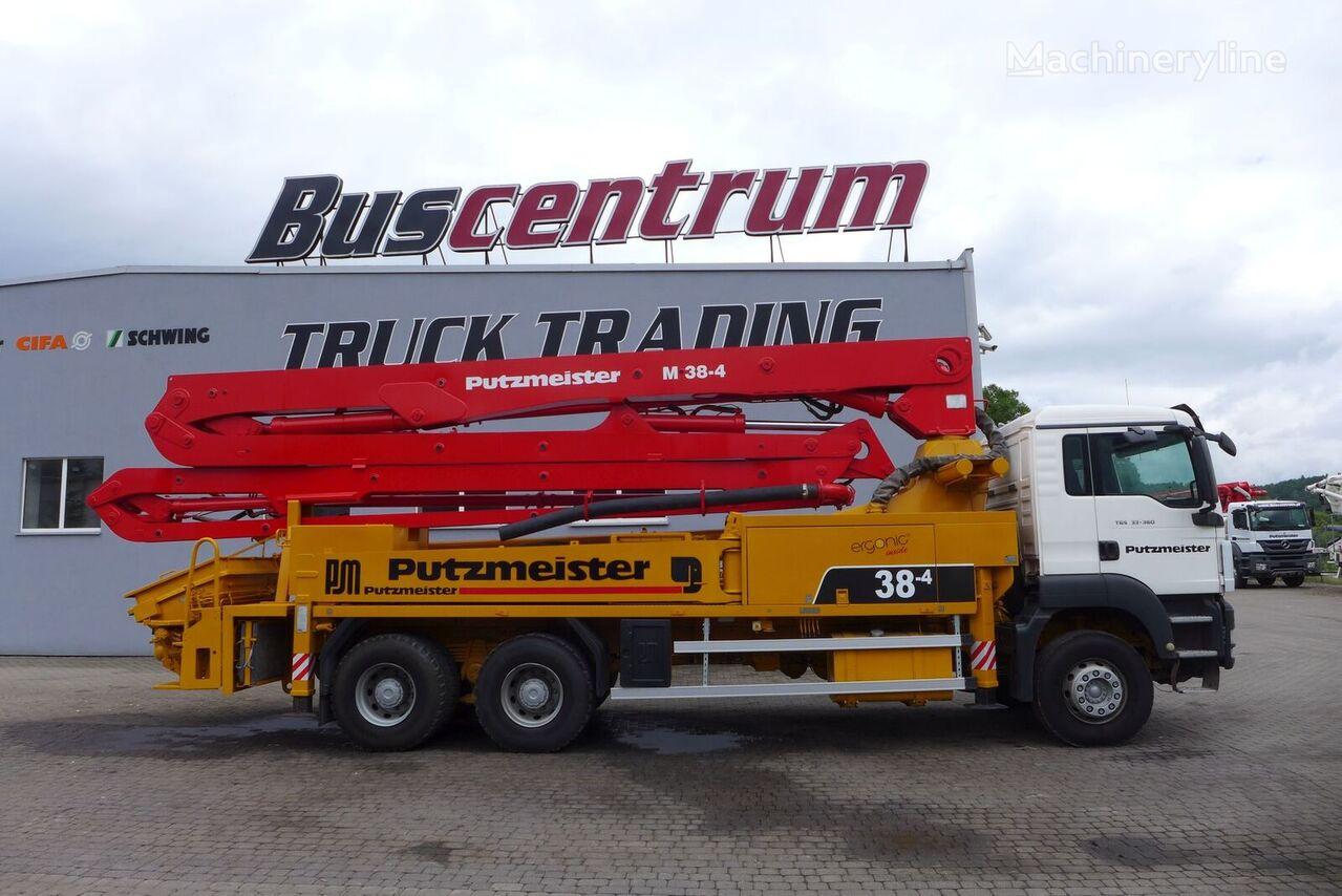 Putzmeister BSF 38-4  on chassis MAN TGS 33.360 6x4 Pump Putzmeister BSF 38-4 m concrete pump