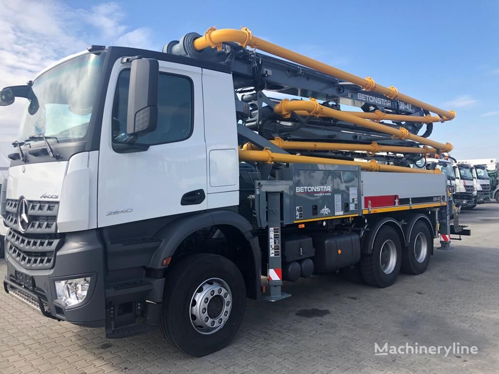 new Betonstar 30 on chassis MERCEDES-BENZ concrete pump