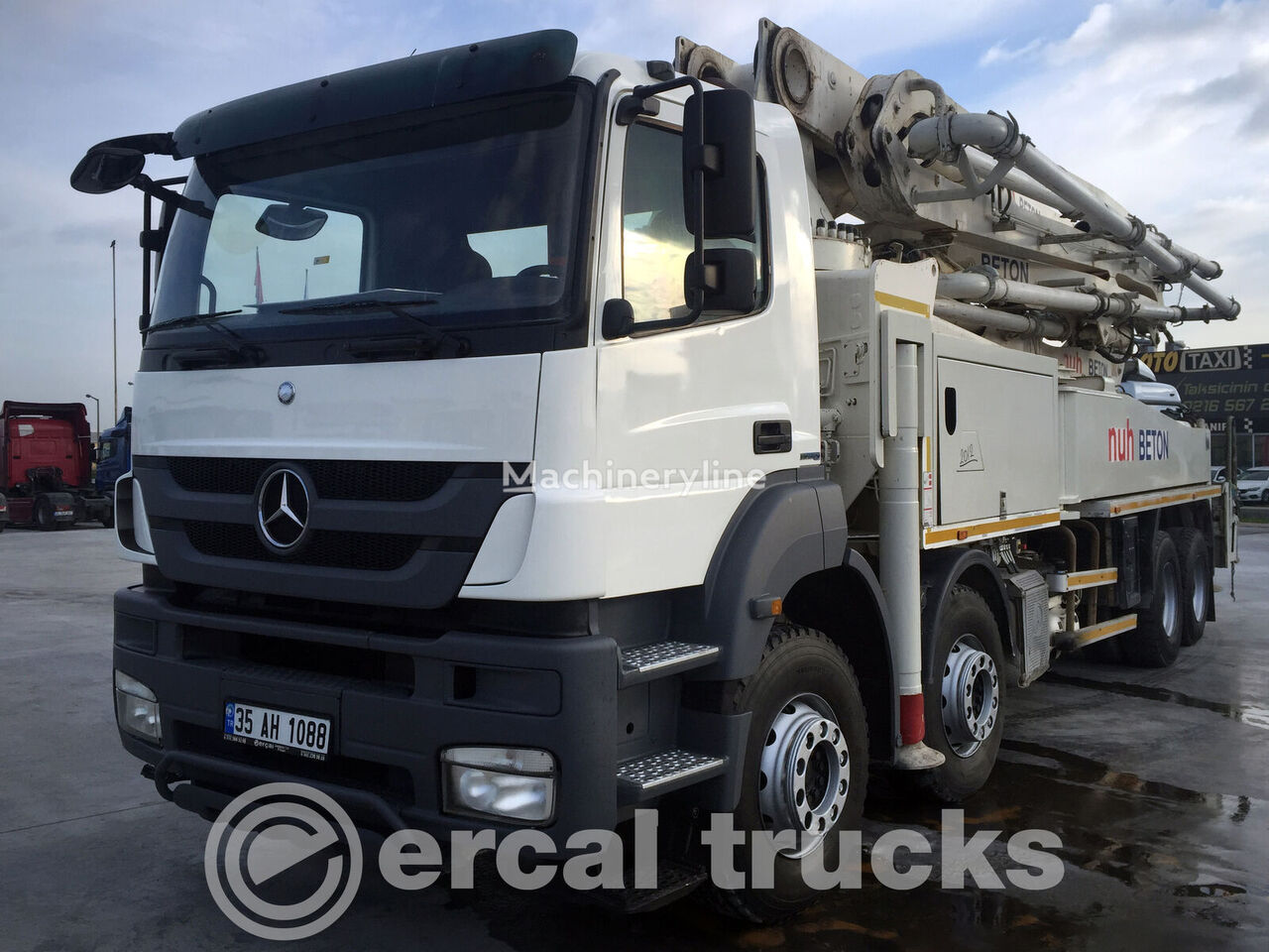 MERCEDES-BENZ 2012 AXOR 4140 PUTZMEISTER 47MT CONCRETE PUMP 2PCS concrete pump