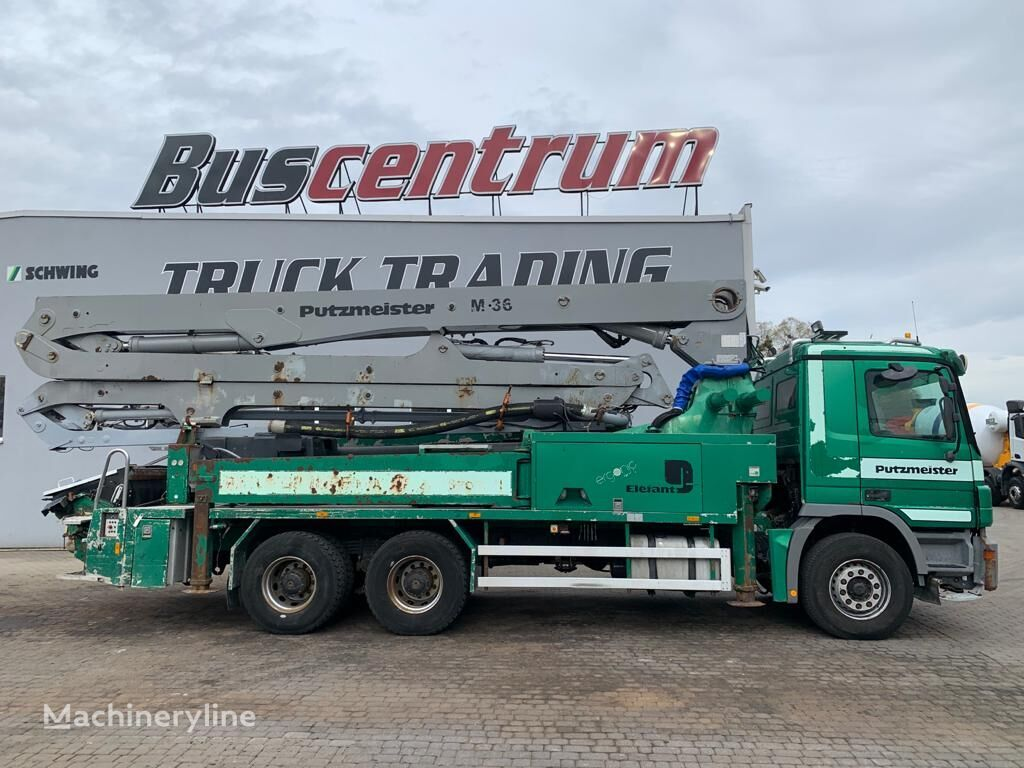 Putzmeister BSF 36-4.16H on chassis MERCEDES-BENZ Actros 2641 6x4 Putzmeister BSF 36-4.16H concrete pump