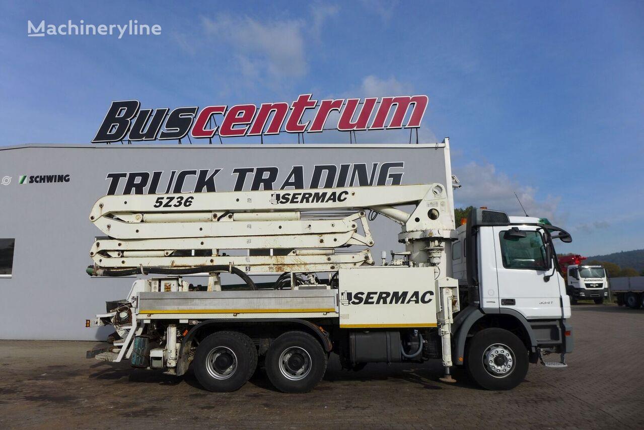 Sermac 5z35 on chassis MERCEDES-BENZ Actros 3341 6x4 SERMAC 35 m  concrete pump