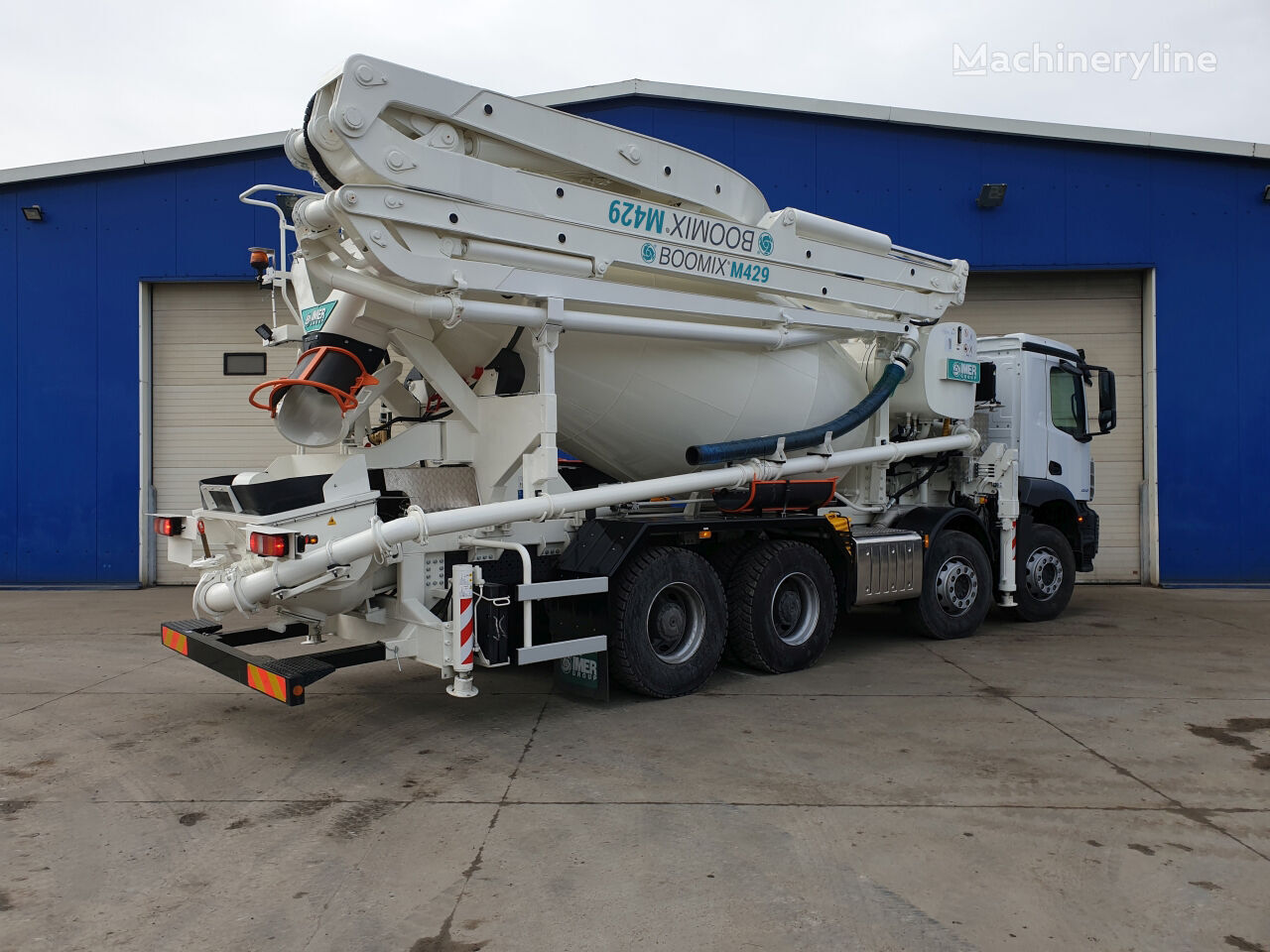 new Imer BOOMIX M429 on chassis MERCEDES-BENZ Arocs 3740 29m 7m3 concrete pump