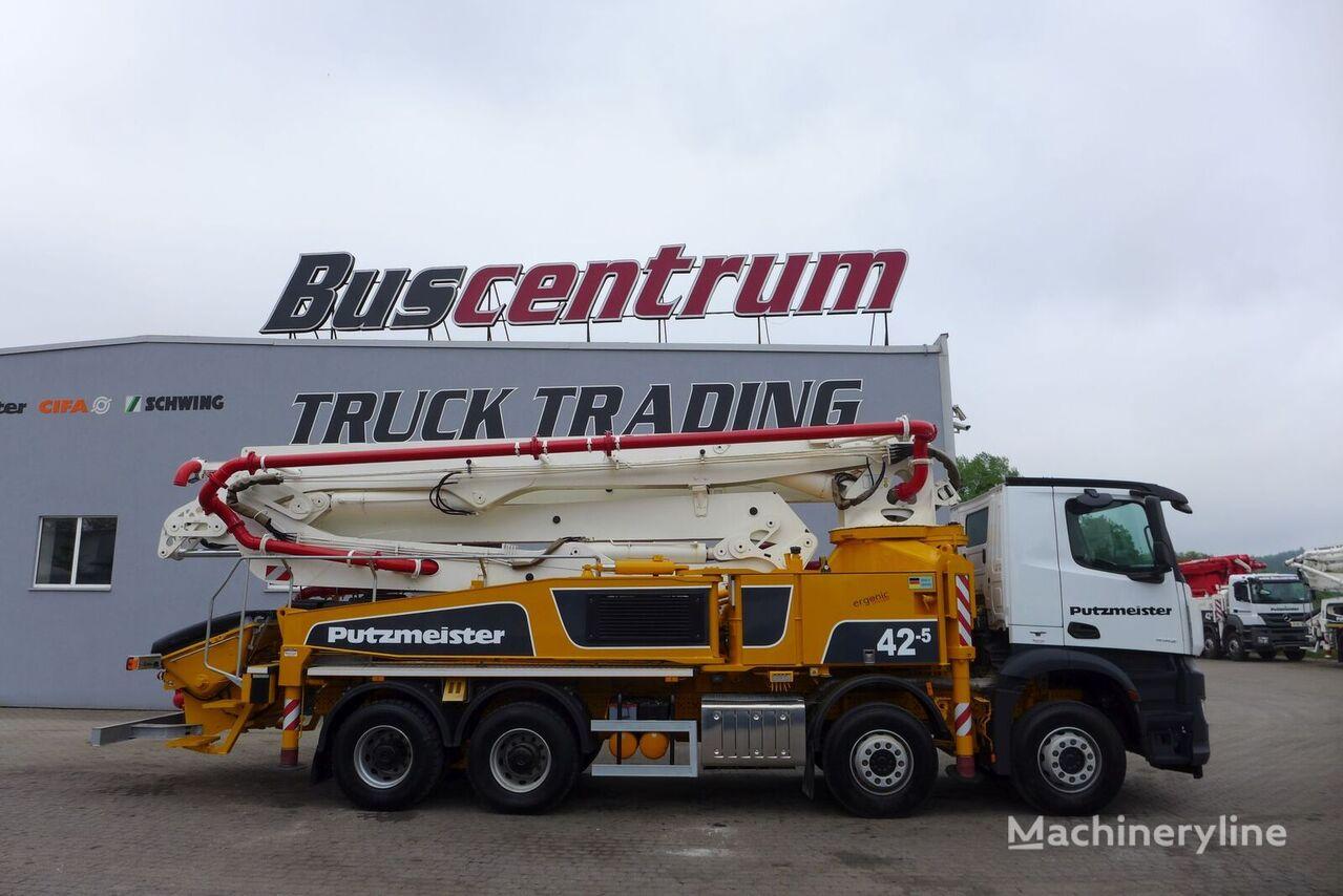 Putzmeister BSF 42-5.16H on chassis MERCEDES-BENZ Arocs 4142 8x4 Putzmeister 42-5 m concrete pump