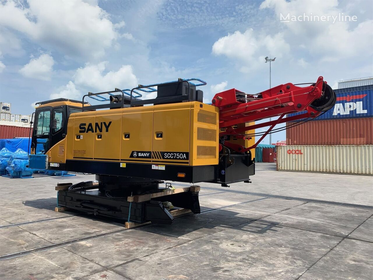 new SANY SCC700 crawler crane