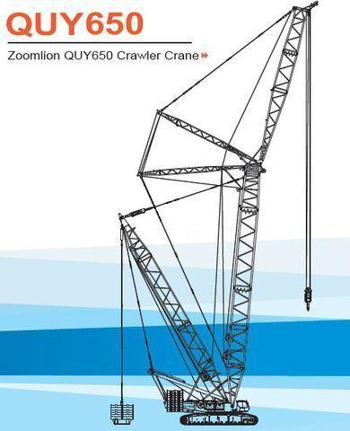 new ZOOMLION QUY650 crawler crane