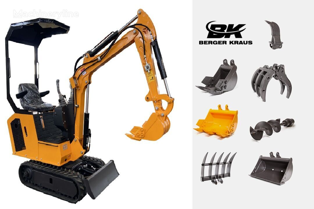 new BERGER KRAUS Mini Excavator BK800BS with FULL equipment Torision Arm mini excavator