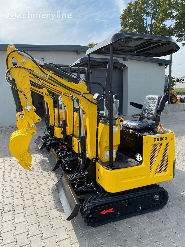 new Günter Grossmann GG800  FULL ACCESSORIES mini excavator
