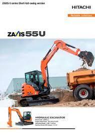 new HITACHI ZX 55U-5A CLR mini excavator