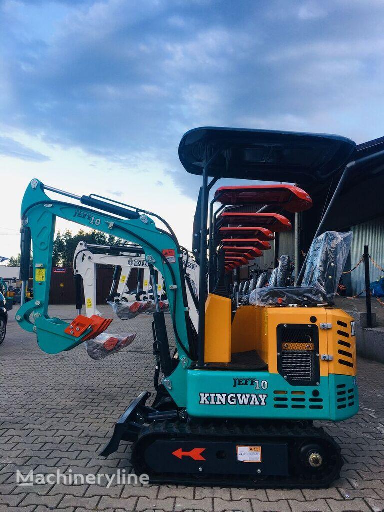new KINGWAY  Mini Excavator  Jeff 10 + bucket 300/500/800 mini excavator