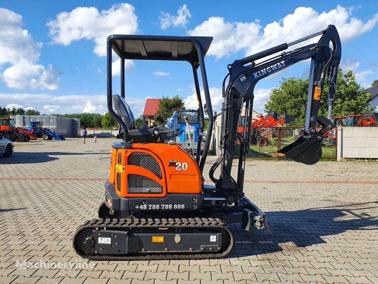 new KINGWAY Minibagger M20 + łyżki 300/800/1000 mini excavator