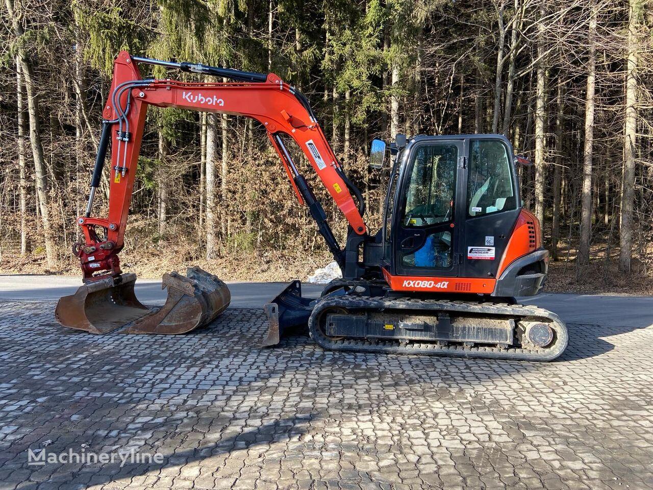 KUBOTA KX 080-4 mini excavator