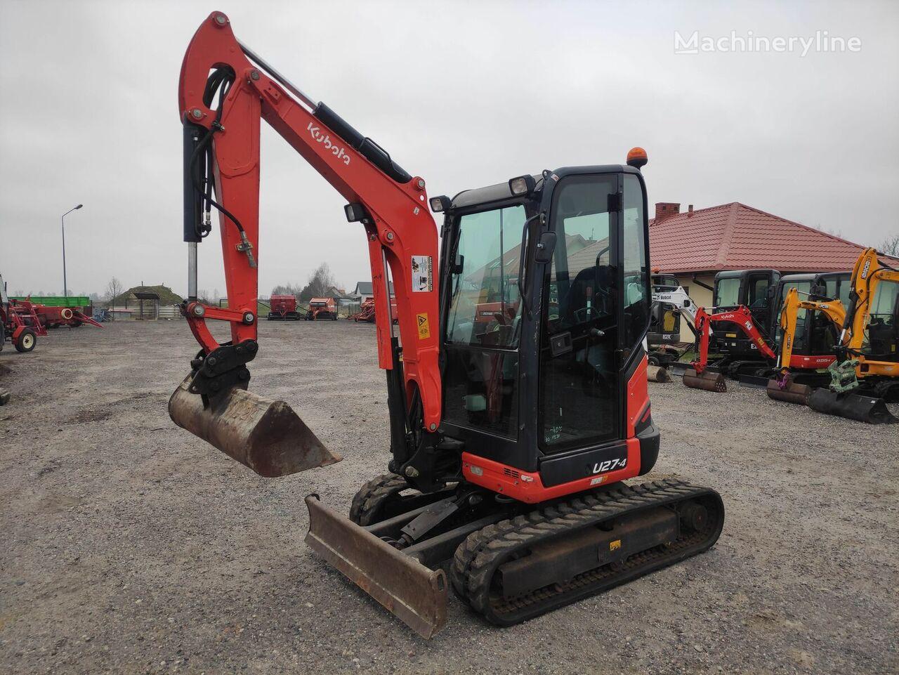 KUBOTA U 27 - 4 mini excavator