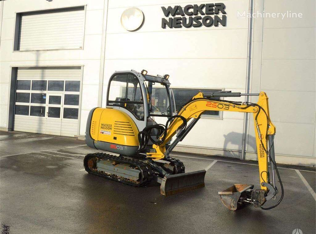 WACKER 2503 mini excavator