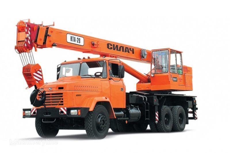 KRAZ 65053 (KTA-28)  mobile crane