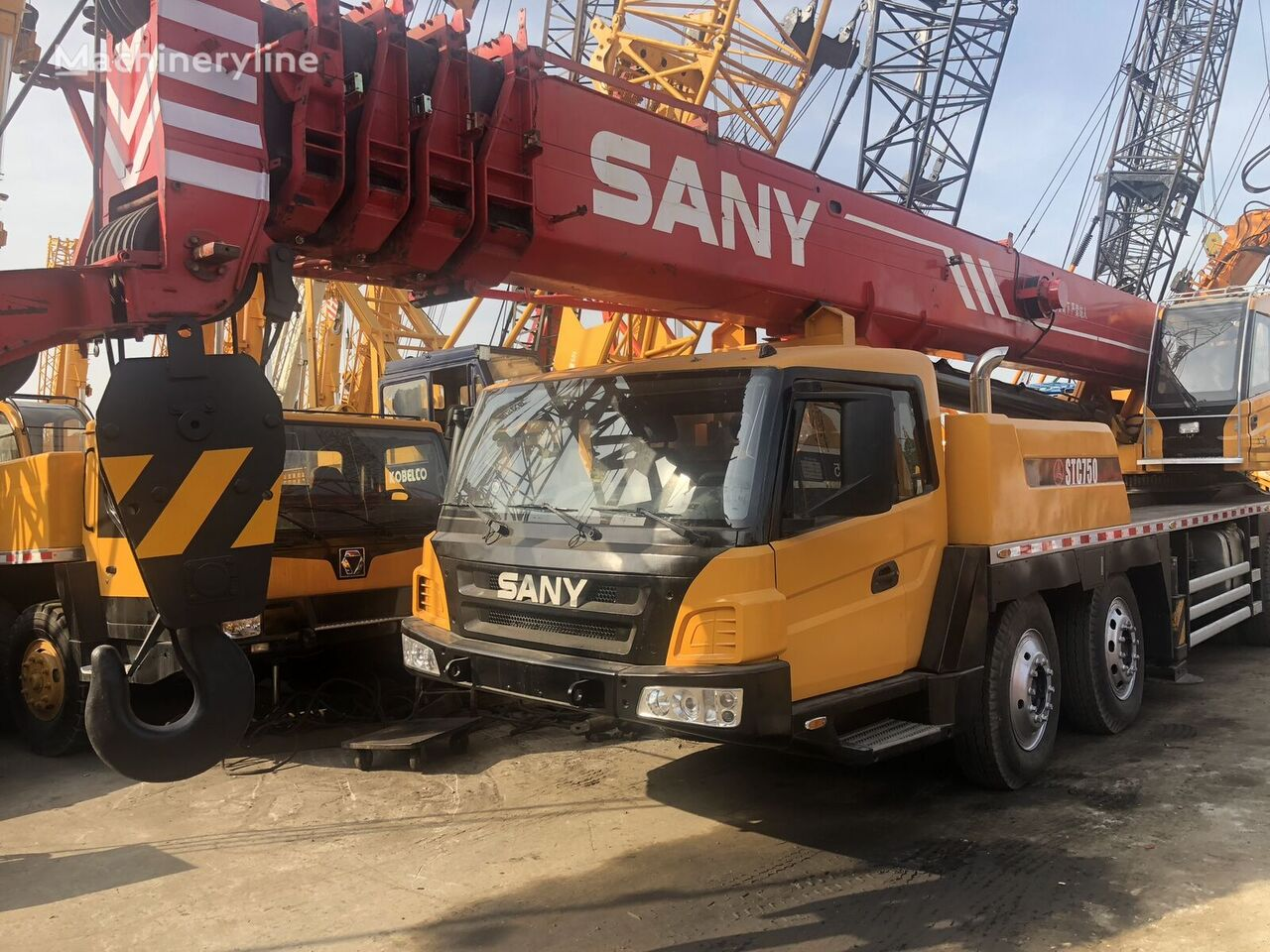 75TON on chassis SANY STC750 mobile crane