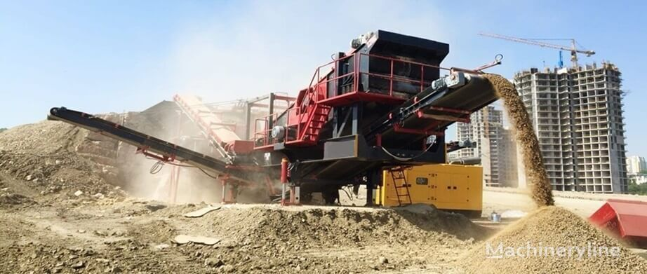 new CONSTMACH 150 tph CAPACITY MOBILE LIMESTONE CRUSHING PLANT mobile crushing plant