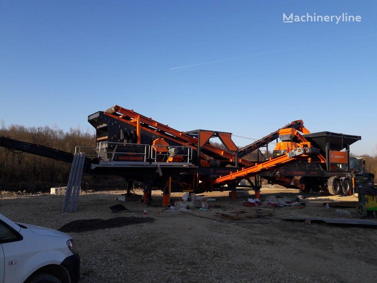 new POLYGONMACH PMVS-70 mobile crushing plant
