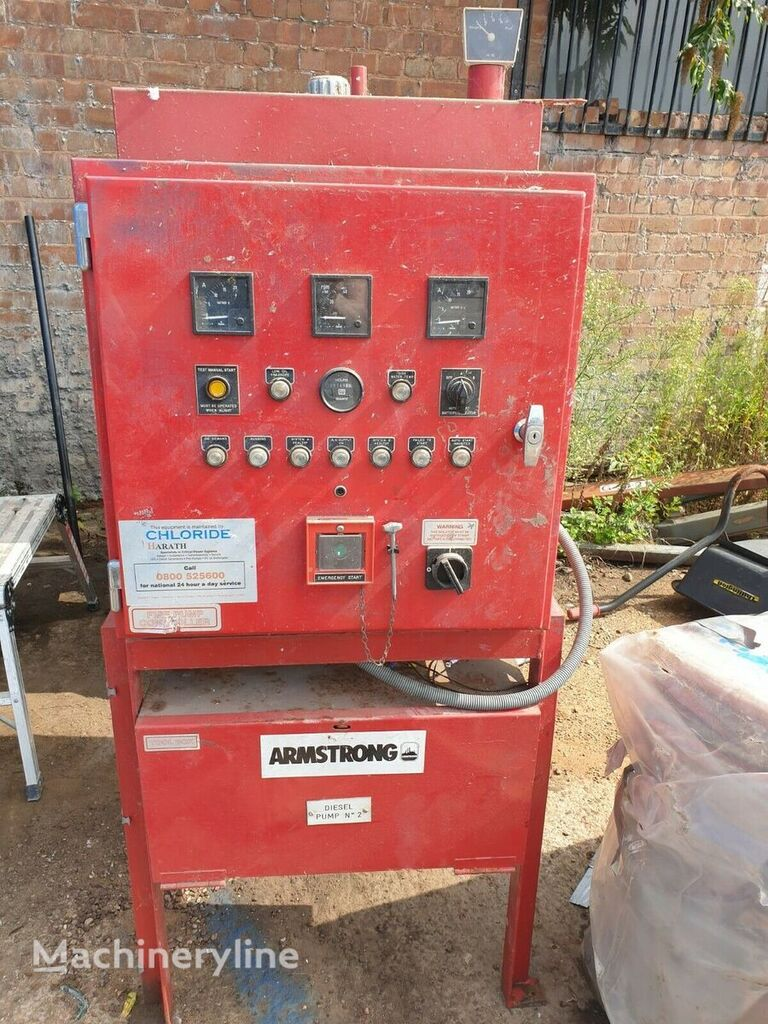 Armstrong diesel pump control panel, with attached diesel tank x other industrial equipment