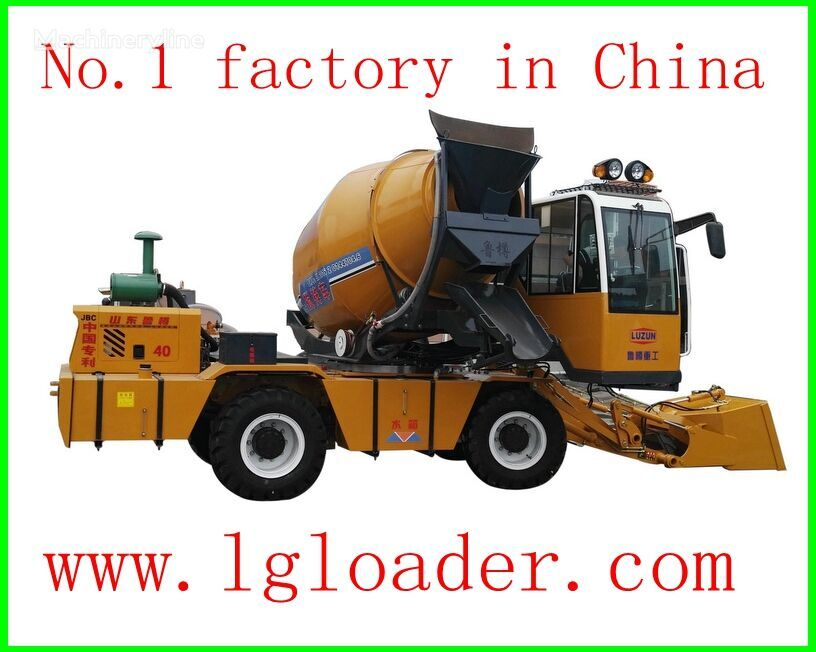 new selfloading concrete mixer paving laying machine