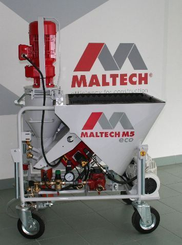 new Maltech M5 Eco plastering machine