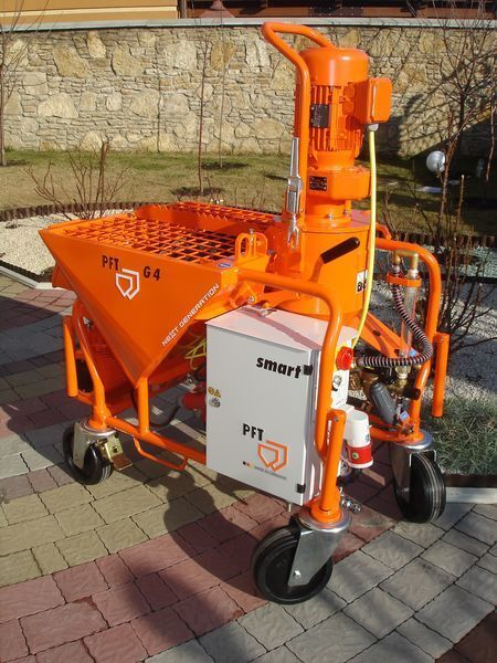 new PFT G 4 Next Generation plastering machine