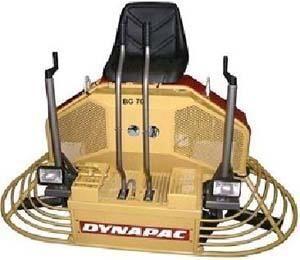 new DYNAPAC BG70 power trowel