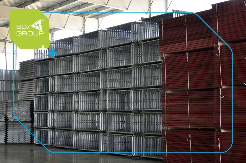new Rusztowanie Plettac 500m2, Wooden platform,Manufacturer  Scaf scaffolding