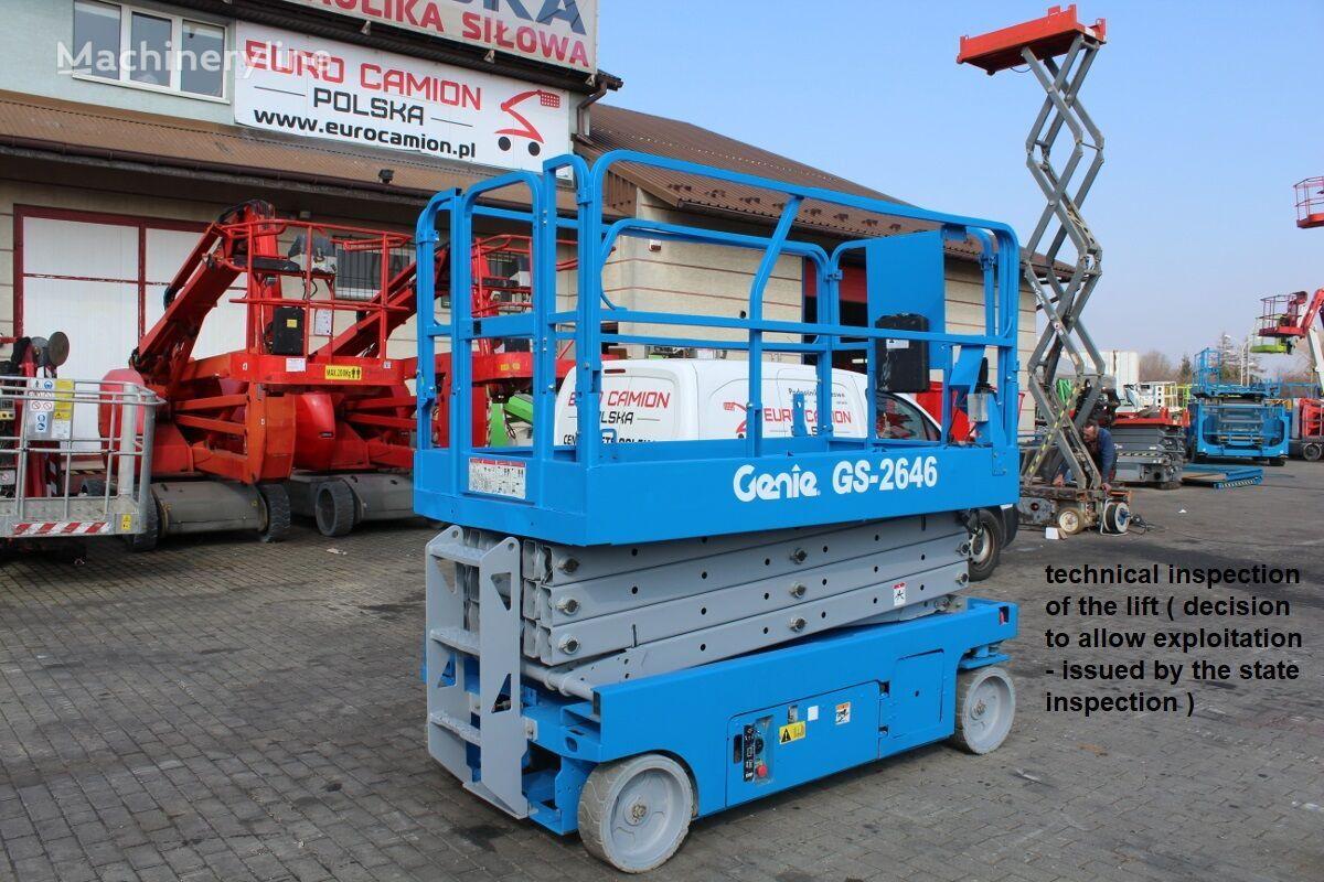 GENIE GS 2646 - 10 m technical inspection (Haulotte Compact 10, JLG ES scissor lift