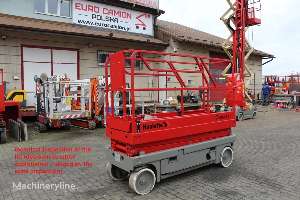 HAULOTTE Compact 8 m technical inspection jlg 2030 es, genie gs 2032, sky scissor lift