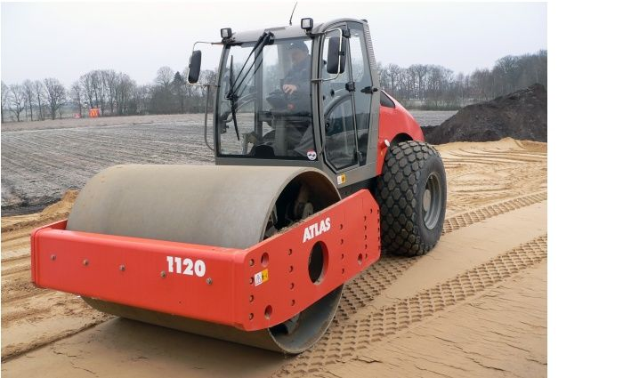 new ATLAS AW1120 single drum compactor
