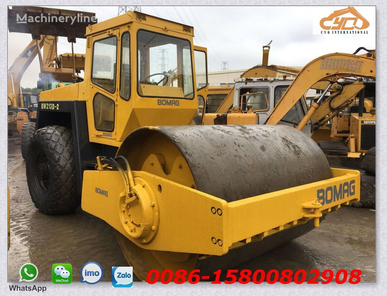 BOMAG BW213D-2 single drum compactor