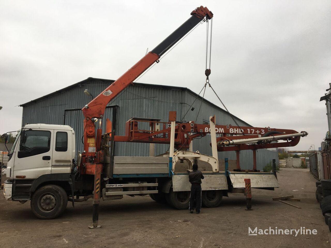 Boom Makina 17+3m stationary concrete pump