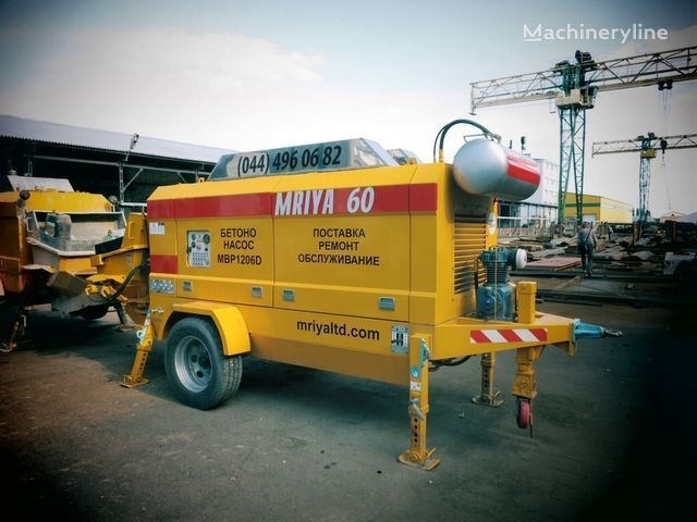 new MRIYA MBP 1206D stationary concrete pump