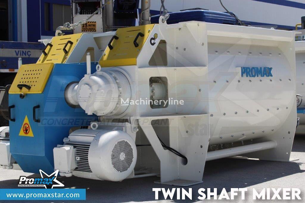 new PROMAX 2 m3 /3 m3 TWIN SHAFT MIXER stationary concrete pump